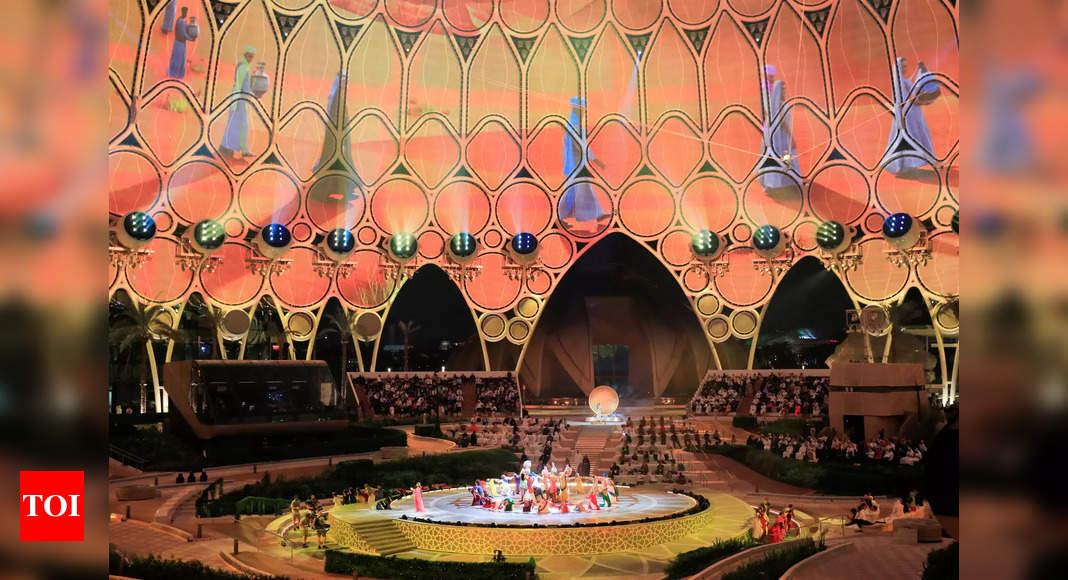 Photo de Ouverture de l'exposition de Dubaï, amenant la première exposition universelle au Moyen-Orient